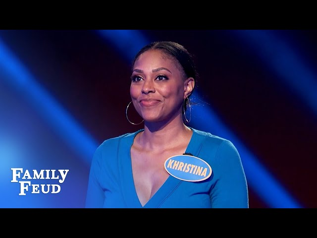Khristina and BJ crush Fast Money! | Family Feud
