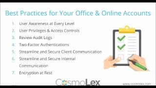 Cyber Security Practices for Small Law Firms   CosmoLex Webinar
