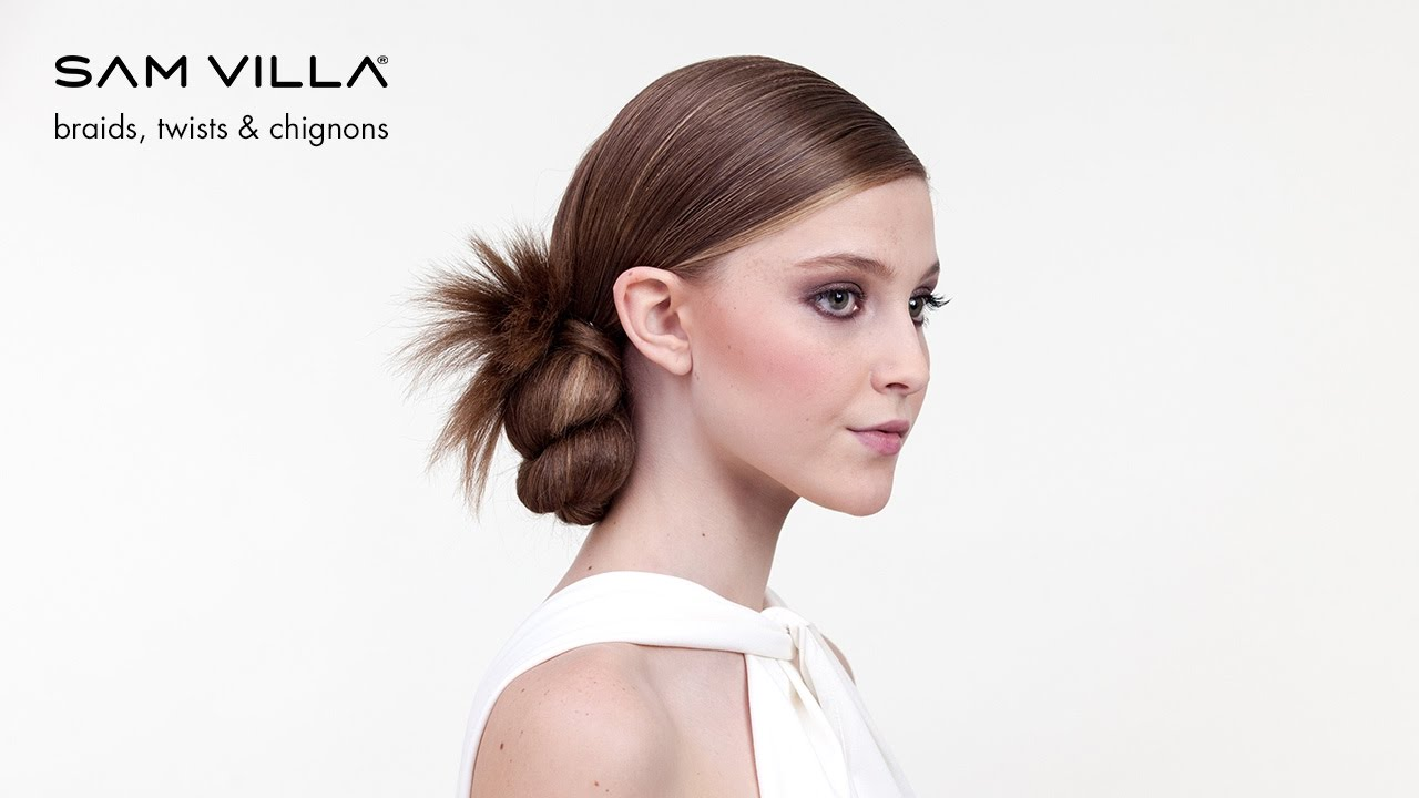 Ponytail Hairstyles: Twisted Bun Updo - YouTube