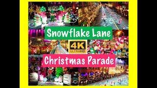 Snowflake Lane Christmas Parade Bellevue Washington 2017 4K