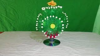 Make Beautiful Flower with plastic    DIY:New Design Woolen Guldasta    Empty plastic bottle flower