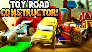 Building TOY ROADS in Toy Road Constructor! (Toy Road Constructor Gameplay)
