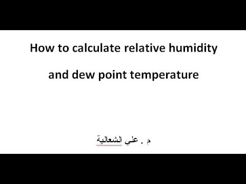 Relative Humidity and Dewpoint