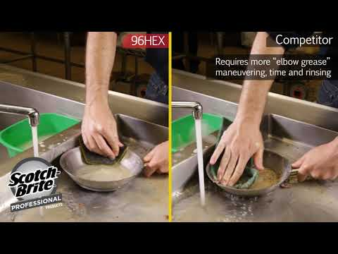 Scotch-Brite™ Dual Purpose Scour Pad 96HEX Demonstration