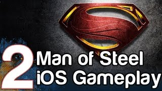 Man of Steel HD Gameplay Part 2 iOS iPad iPhone | WikiGameGuides