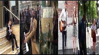 Famous Singers Celebrate Fans On Public Places (Justin Bieber - Jonh Lenon - Ed Sheeran - Seal)