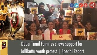 Dubai Tamil Families shows support for Jallikattu youth protest | Special Report