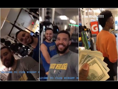 Stephen Curry & JaVale McGee are doing some weird things in the Gym, Draymond finally gets paid !