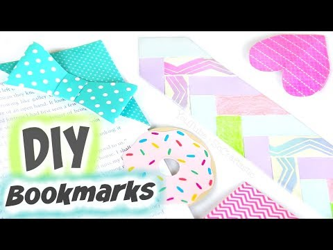 EASY DIY BOOKMARKS for Back-To-School // Corner Bookmark How To