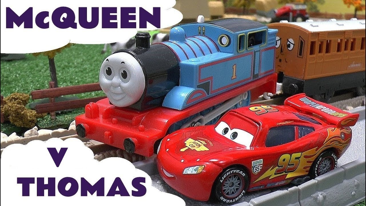 Cars 2 Lightning Mcqueen Races Thomas The Train Disney