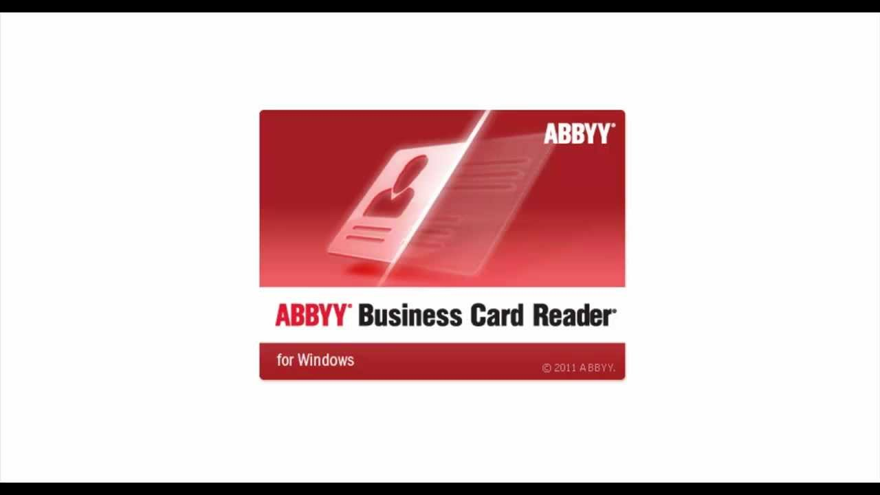 Abbyy business card reader c outlook youtube colourmoves