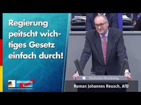 Regierung peitscht wichtiges Gesetz einfach durch! - Roman Reusch - AfD-Fraktion im Bundestag