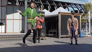 VSもて海のデモンストレーションは、龍馬さんと慎太郎さんの縄跳び対決(妨害に失敗!笑) 弥太郎さんがあっちむいてホイ、龍馬さんと虎太郎さんが縄跳びで対決 楽曲 ...