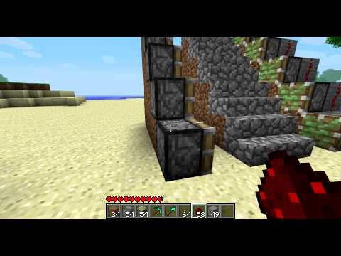 Minecraft Tutorial Ausfahrbare Treppe Youtube