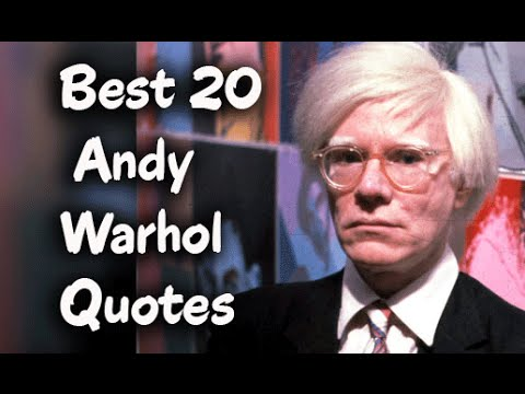 best 20 andy warhol quotes youtube. Black Bedroom Furniture Sets. Home Design Ideas