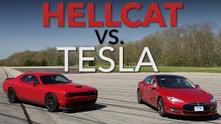 Track Science: Tesla P85D vs. Challenger Hellcat | Consumer Reports