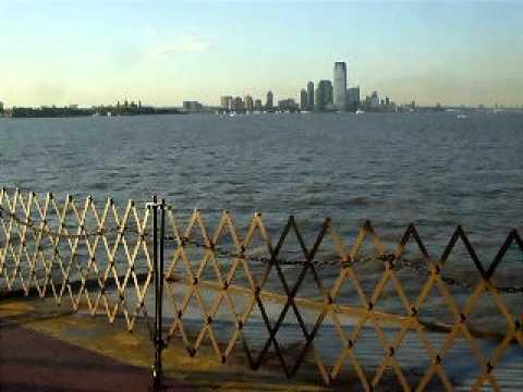 Staten Island Ferry to Manhattan, early evening.