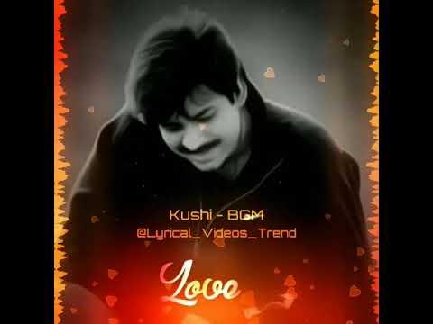 Pawan Kalyan Kushi Movie Love BGM WhatsApp Status