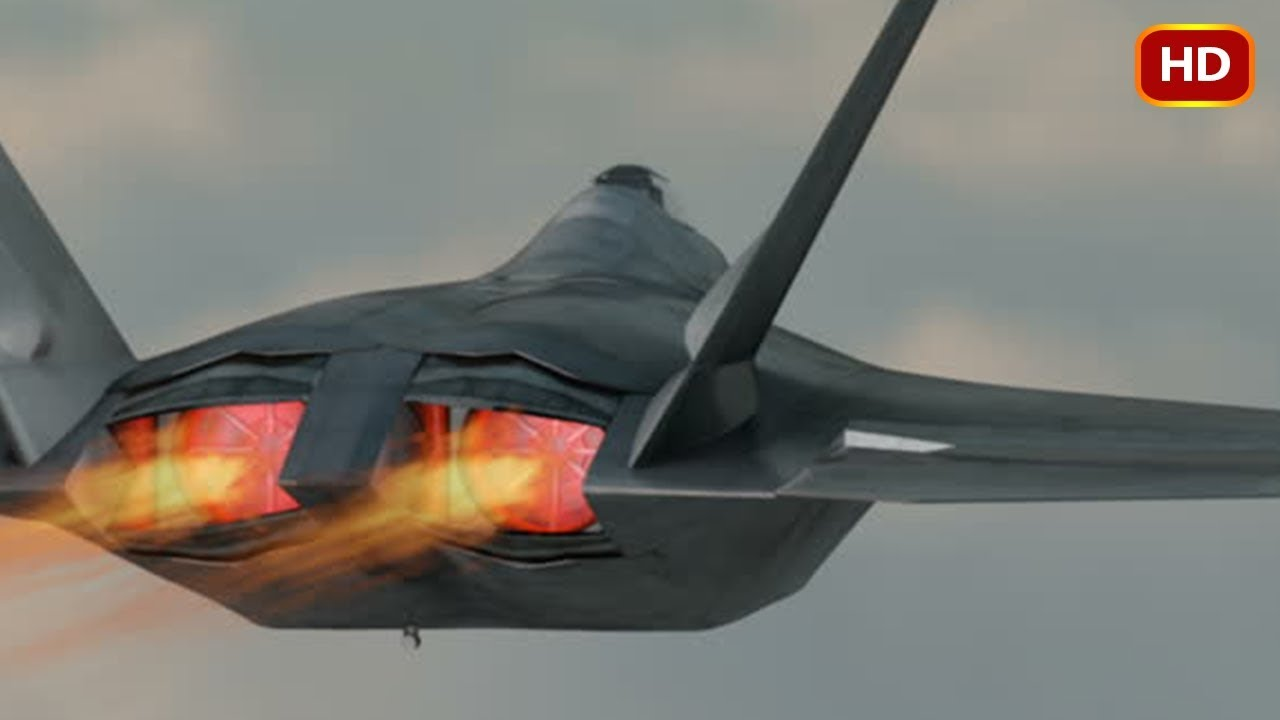 hight resolution of extremely powerful f 22 raptor shows its crazy ability