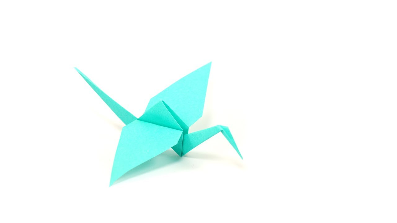 Diy origami grue by fraises au sucre youtube - Origami simple a realiser ...
