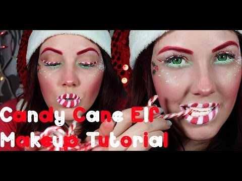 Candy Cane Elf Makeup Tutorial! Merry Christmas!