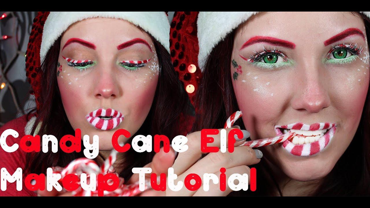 candy cane elf makeup tutorial merry christmas youtube - Christmas Elf Makeup