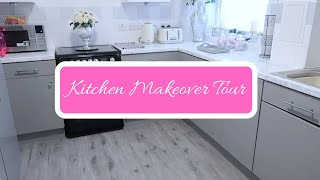 DIY KITCHEN MAKEOVER TOUR   HOME DECOR   USING CONTACT PAPER