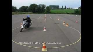Permis moto belge. Manoeuvres.