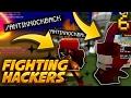 FIGHTING HACKERS IN OP GEAR! | Minecraft SKYBOUNDS #6 (Minecraft Skyblock Survival)
