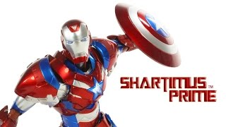 Sentinel Re:Edit Iron Patriot Import Iron Man Toy Action Figure Review