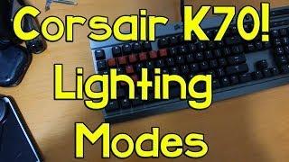 corsair k70 lighting modes responsive reactive typing