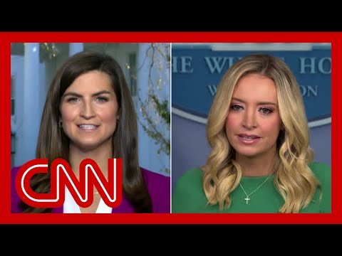 Hear Kayleigh McEnany's reason for not taking a question from CNN's Kaitlan Collins