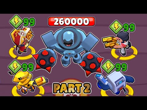 SUPER + 99 POWERS vs ROBOT | Part 2 | Brawl Stars