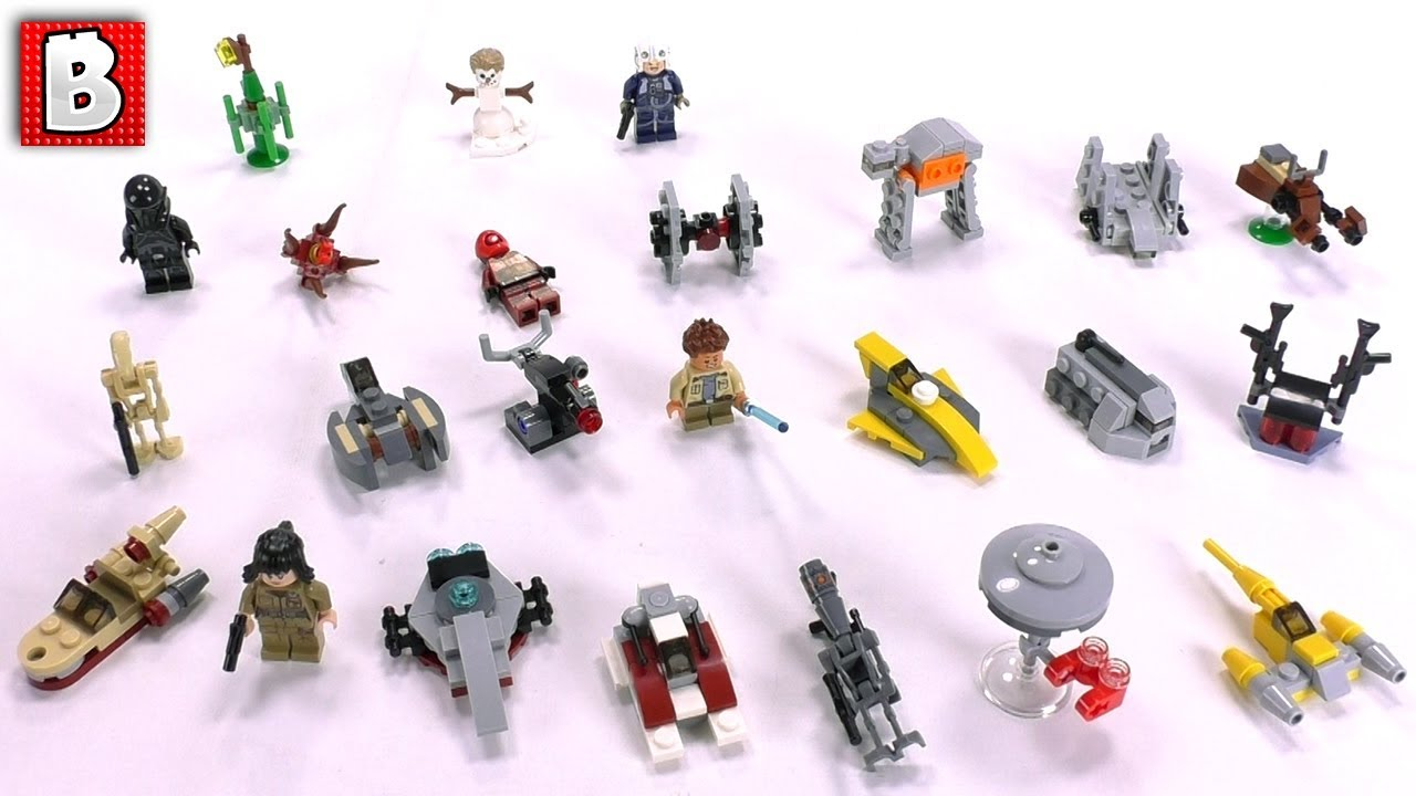 Calendrier Avent Lego Star Wars 2019.Star Wars Lego Advent Calendar 2018 Full Review And Spoilers