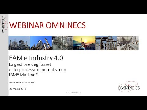 EAM and Industry 4.0: managing assets and maintenance processes using IBM Maximo