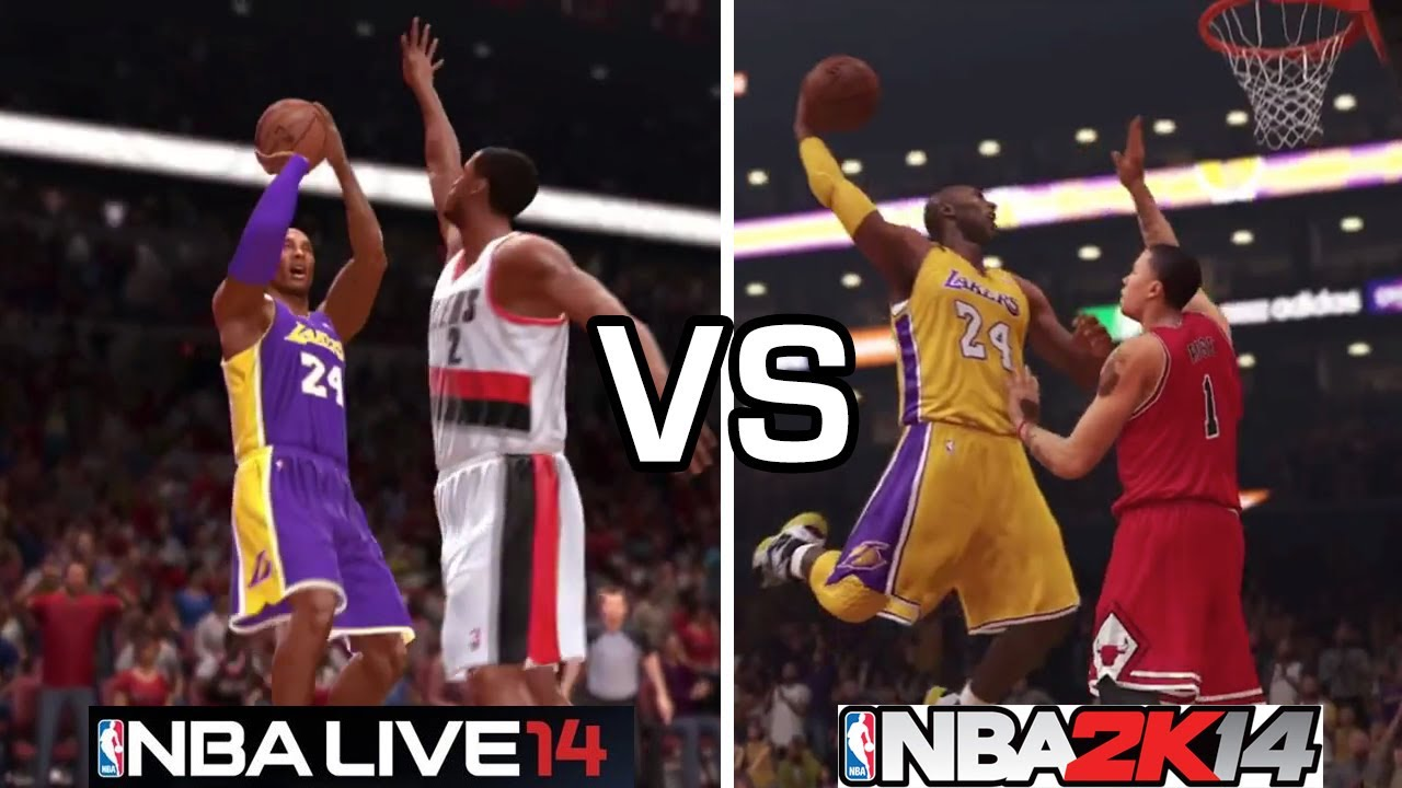 nba 2k14 vs nba live 14 trailer faceoff youtube