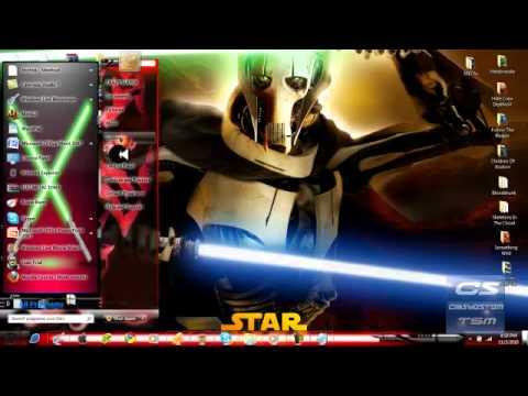 Tema para windows 7 star wars youtube for Five star windows