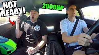 SCARING The Stradman In My 2000HP Twin Turbo Lamborghini Gallardo!