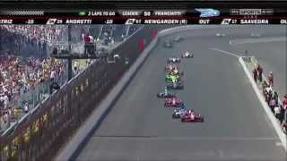 500 Miles of Indianapolis 2012 - The Last Five Laps and Sato's Incident