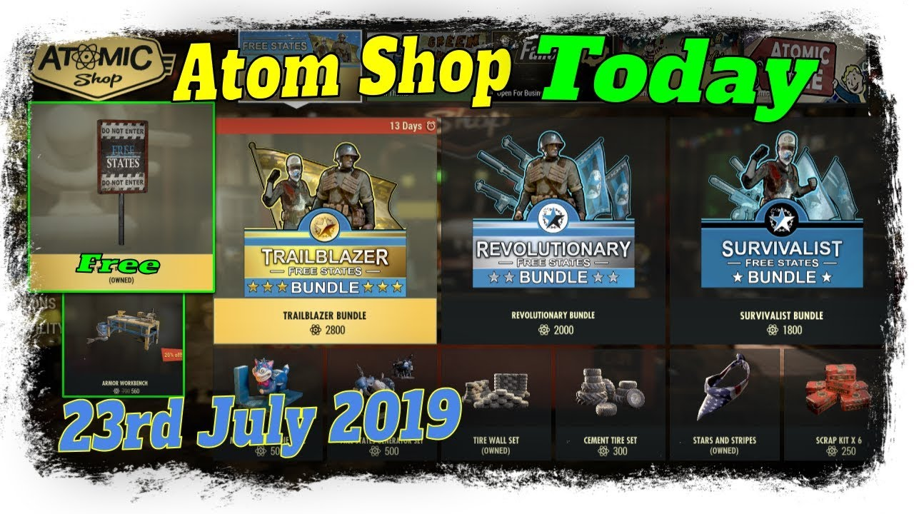 Fallout 76 Atom Shop – Free States bundles are Overpriced
