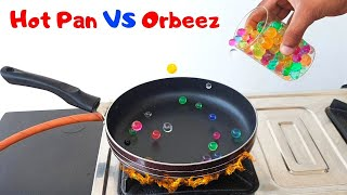 गर्म तवे पर पानी की गोलियां डालो और कमाल देखो   Orbeez Balls VS Hot Pan  