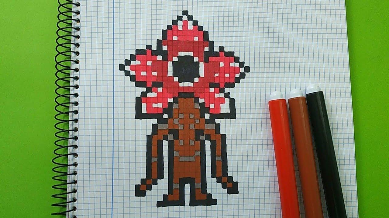 How To Draw Demogorgon Stranger Things Pixel Art Tutorial