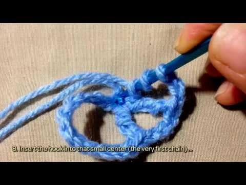 How To Crochet A Vey Easy Peace Sign Diy Diy Tutorial
