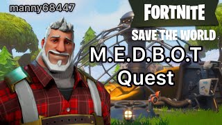 Repair the Shelter. M.E.D.B.O.T Quest (Plankerton) Fortnite Save the World #Fortnite manny68447