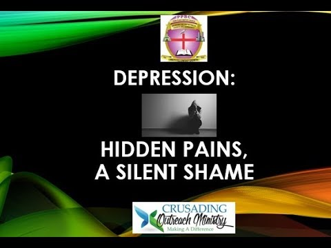 July 2017 WOU Conference:  Depression: Hidden Pain, Secret Shame