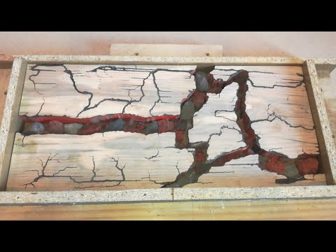 Coffee Table with Epoxy Resin and Lava Rocks _ Part1
