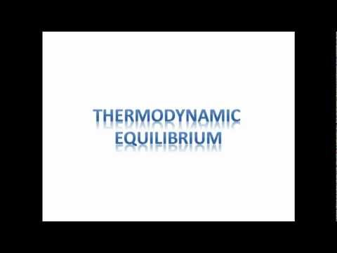 Thermodynamic Equilibrium