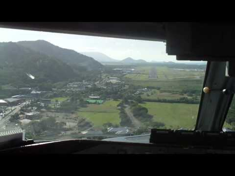 Skytrans QQK Over Cairns On Approach To Runway 33.MOV