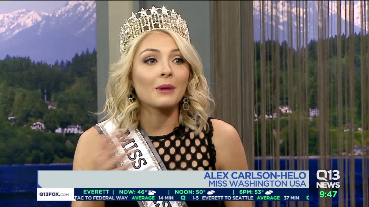 Q13 FOX interview with Alex Carlson-Helo – Miss Washington USA