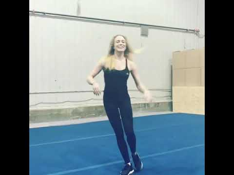 Caity Lotz Epic Backflip